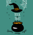 halloween holiday greeting card trick or treat vector image vector image