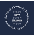 Halloween lettering greeting card vector image