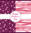 happy mother days floral pattern vector image vector image