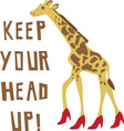 Head Up vector image vector image
