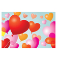 Heart Shape Balloons Background vector image vector image