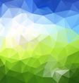 horizontal landscape blue sky green polygon vector image vector image