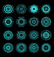hud futuristic target aims sci fi interface icons vector image