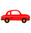 isolated car toy icon vector image