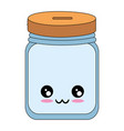 kawaii bottle icon vector image vector image