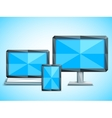 Low Poly Electronic Devices vector image vector image