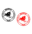 made in asia rubber stamp vector image