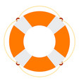 marine lifebuoy icon flat isolated vector image