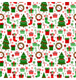 new year green tile pattern merry christmas flat vector image vector image