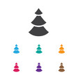 of air symbol on fir tree icon vector image