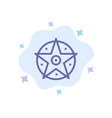 pentacle satanic project star blue icon on vector image vector image