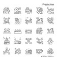 production line icons set editable vector image vector image