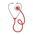 realistic medical stethoscope phonendoscope vector image vector image