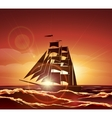 Sailing Ship in the Ocean vector image vector image
