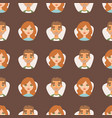 seamless pattern avatars with facial features vector image vector image