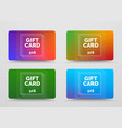 set gift cards with soft multicolored vector image