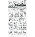 Set of 20 doodle hand drawn cartoon vector image vector image