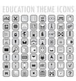set of 64 education theme icons vector image vector image