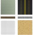 set of asphalt road textures vector image