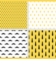set of printable seamless male patterns vector image vector image