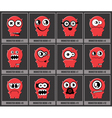 Set of twelve monsters vector | Price: 1 Credit (USD $1)