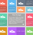 Sneakers icon sign Set of multicolored buttons vector image vector image