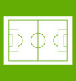 soccer field icon green vector image vector image