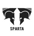 Spartan helmet icon vector image