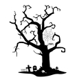 spooky silhouette tree vector image vector image