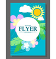 Spring sale concept hanging flowers roll-up banner vector image