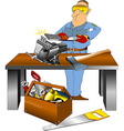 super toolbox vector image vector image