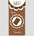 Sweet chocolate labels for drinks syrup vector image vector image