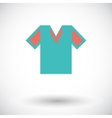 T-shirt single icon vector image