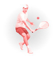 tennis player low poly geometric vector image vector image