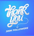 thank you followers template for social vector image vector image