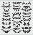 tribal tattoo set design element vector image vector image