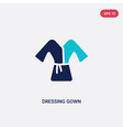 two color dressing gown icon from clothes concept vector image vector image