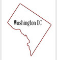 washington dc vector image