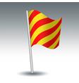 waving maritime signal flag y yankee vector image