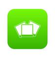 wedding invitation cards icon digital green vector image vector image