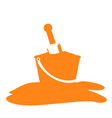 isolated sand bucket silhouette vector image