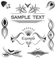 calligraphic set vector image