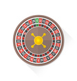 color playing roulette icon vector image