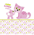 cat mom and baby vector image