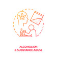 alcoholism and substance abuse red gradient