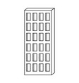 apartment building icon monochrome silhouette vector image vector image