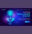 artificial intelligence landing page background vector image