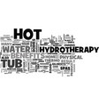benefits of round hot tub text word cloud concept vector image vector image