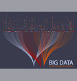 big data visualization concept vector image vector image