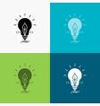 bulb idea electricity energy light icon over vector image
